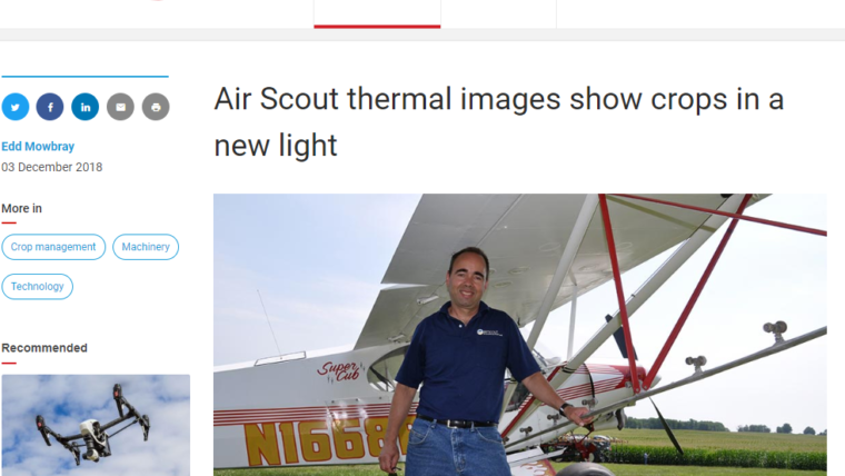 AirScout featured in Farmers Weekly UK